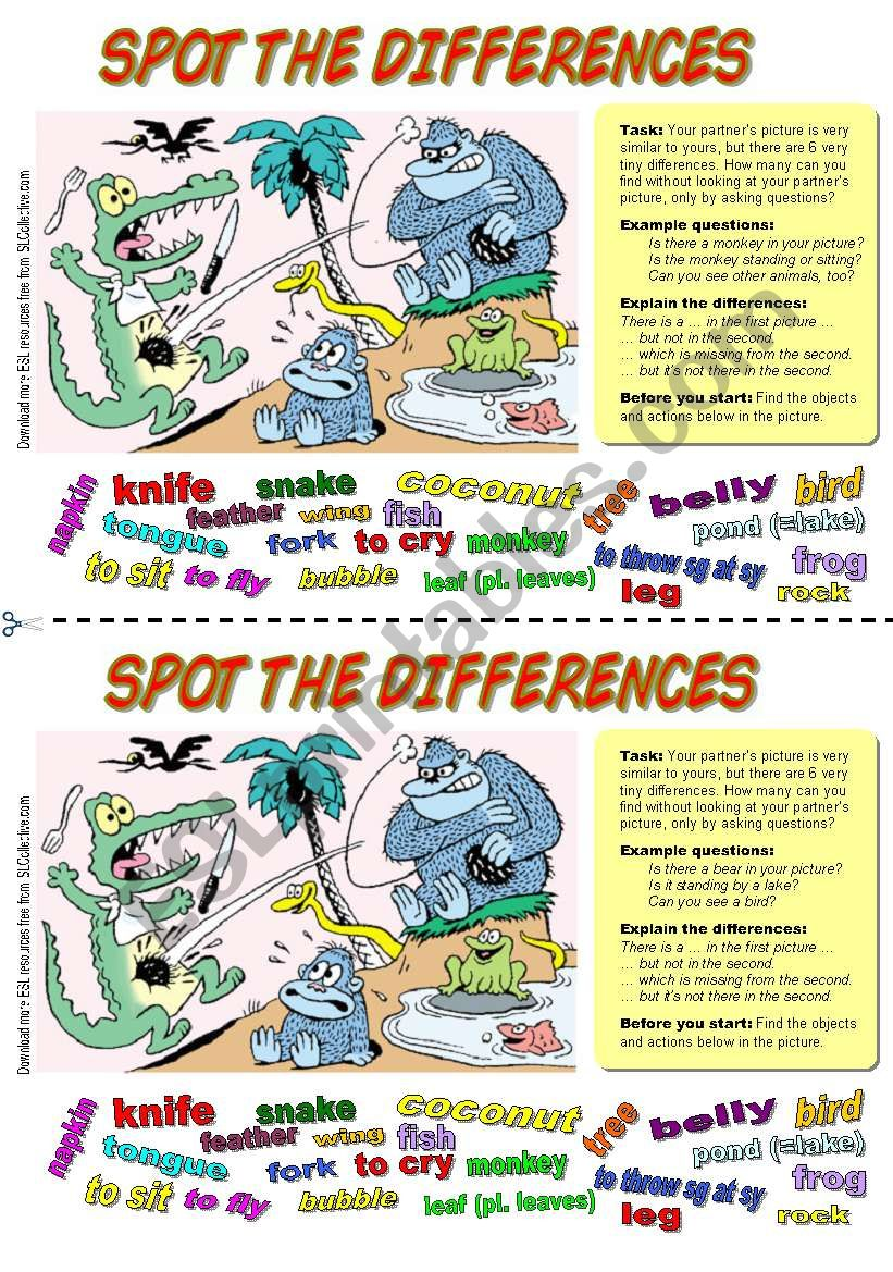 Spot the differences (5). Alligator at lunch