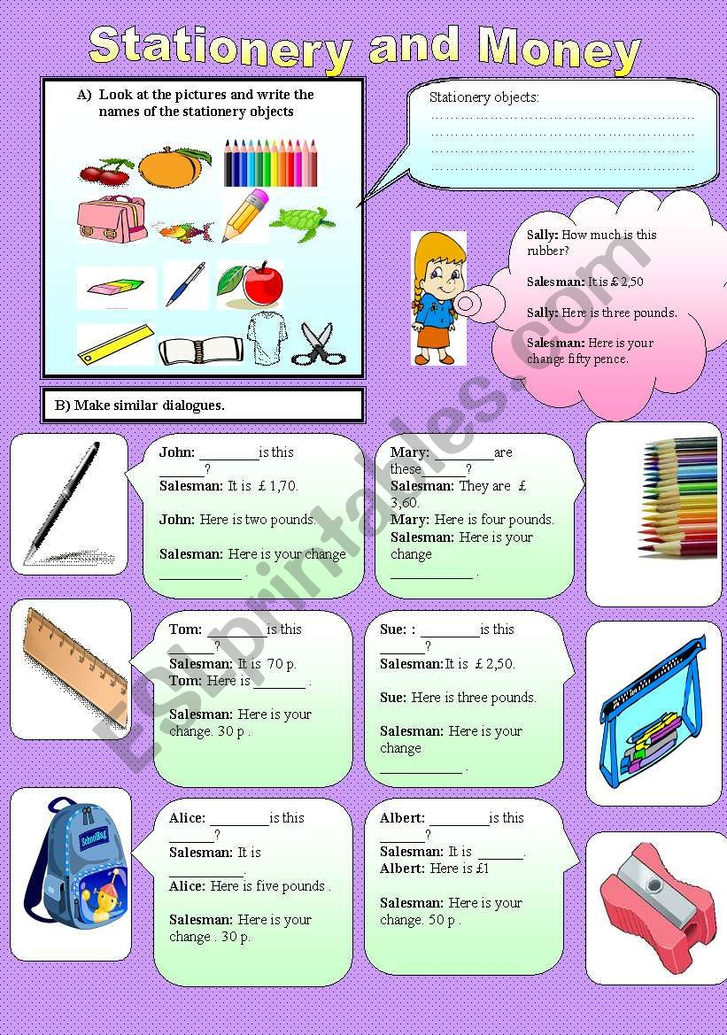 Stationery objects and asking cost