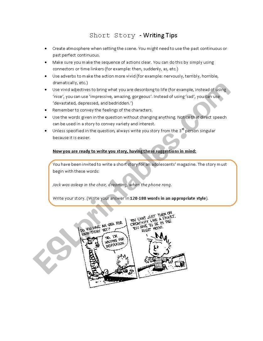 First certificate writings worksheet