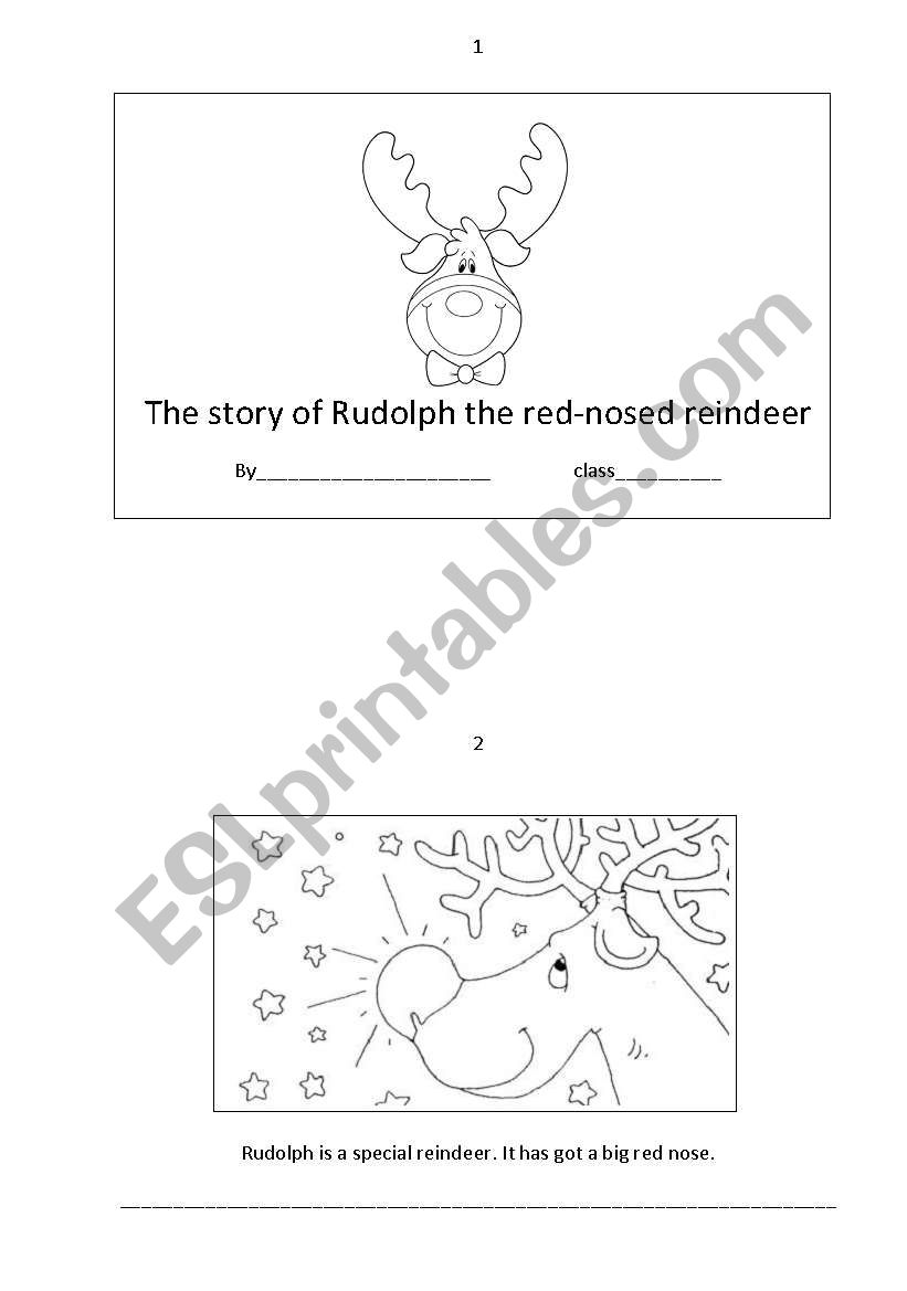 the story of Rudolph the red-nosed reindeer booklet