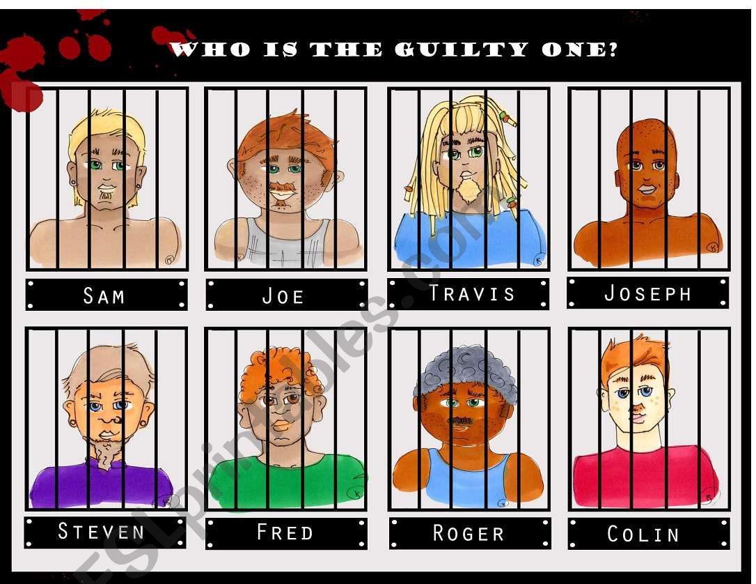 Guess Who - Jail time 1/3 worksheet