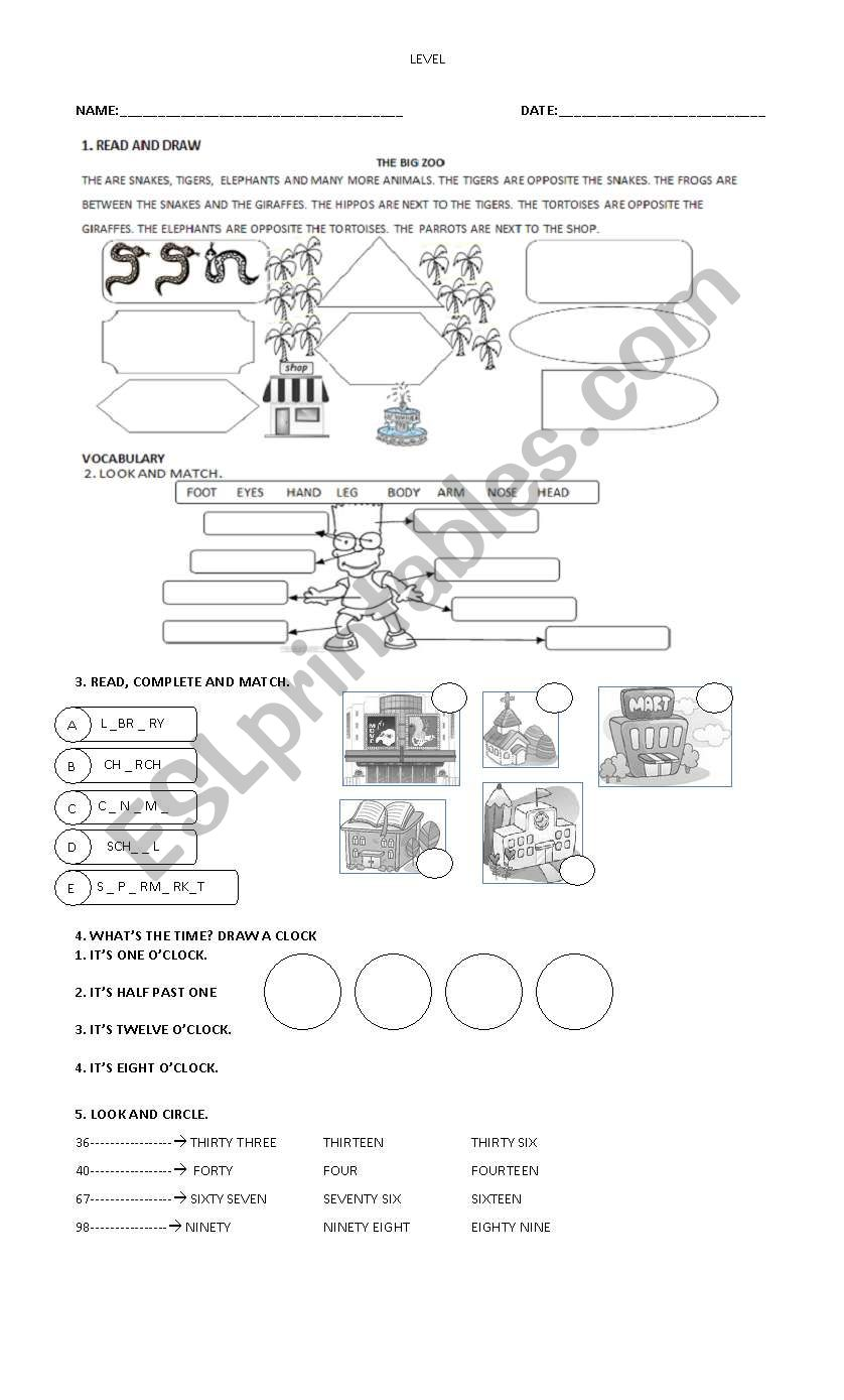 HAPPY STREET 2 PART 1 worksheet