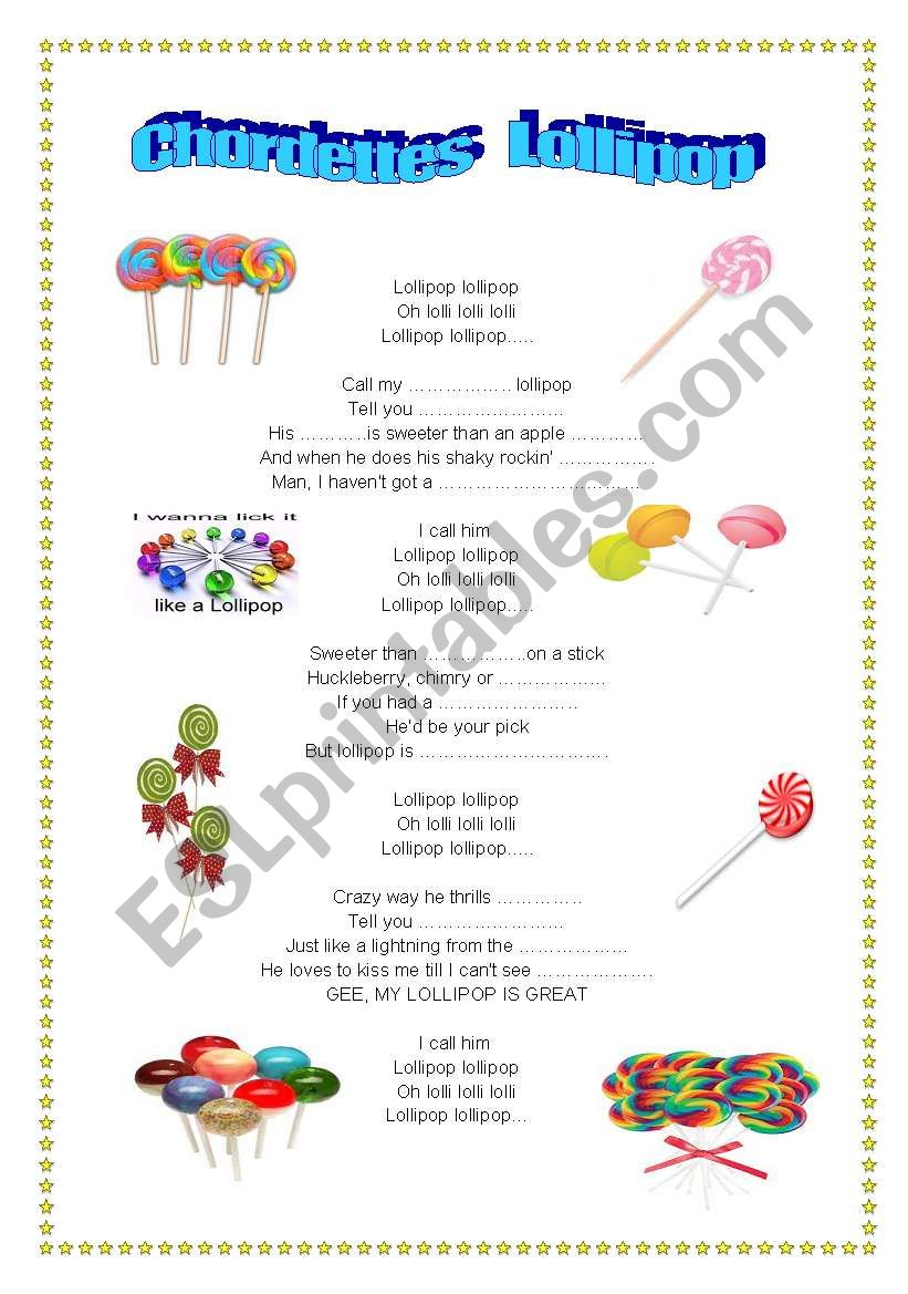 SONG. Lollipop, the Chordettes