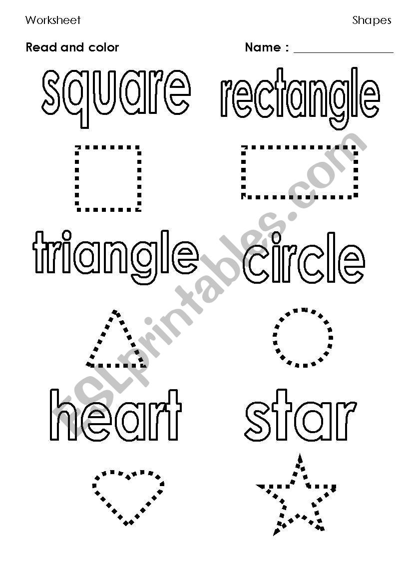 It's just a picture of Printable Shapes Worksheets with grade 1