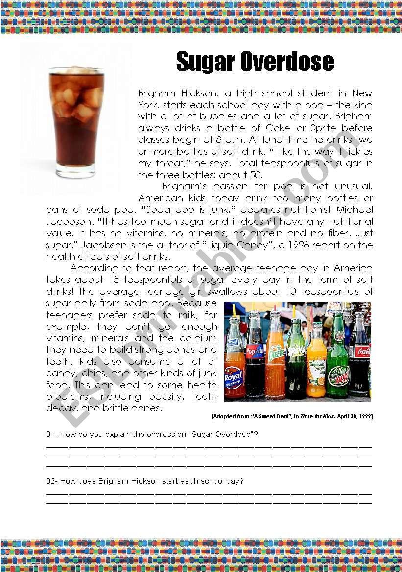 Sugar Overdose (Text and Comprehension)
