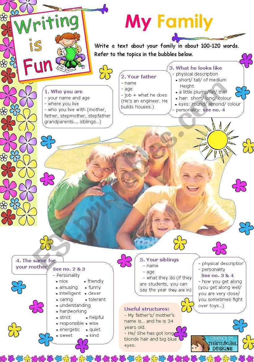 Writing is Fun 3  -  My Family
