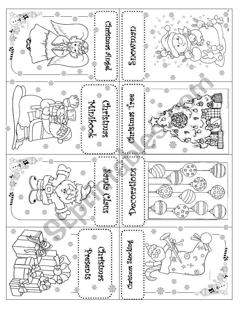 ***CHRISTMAS MINI BOOK*** worksheet