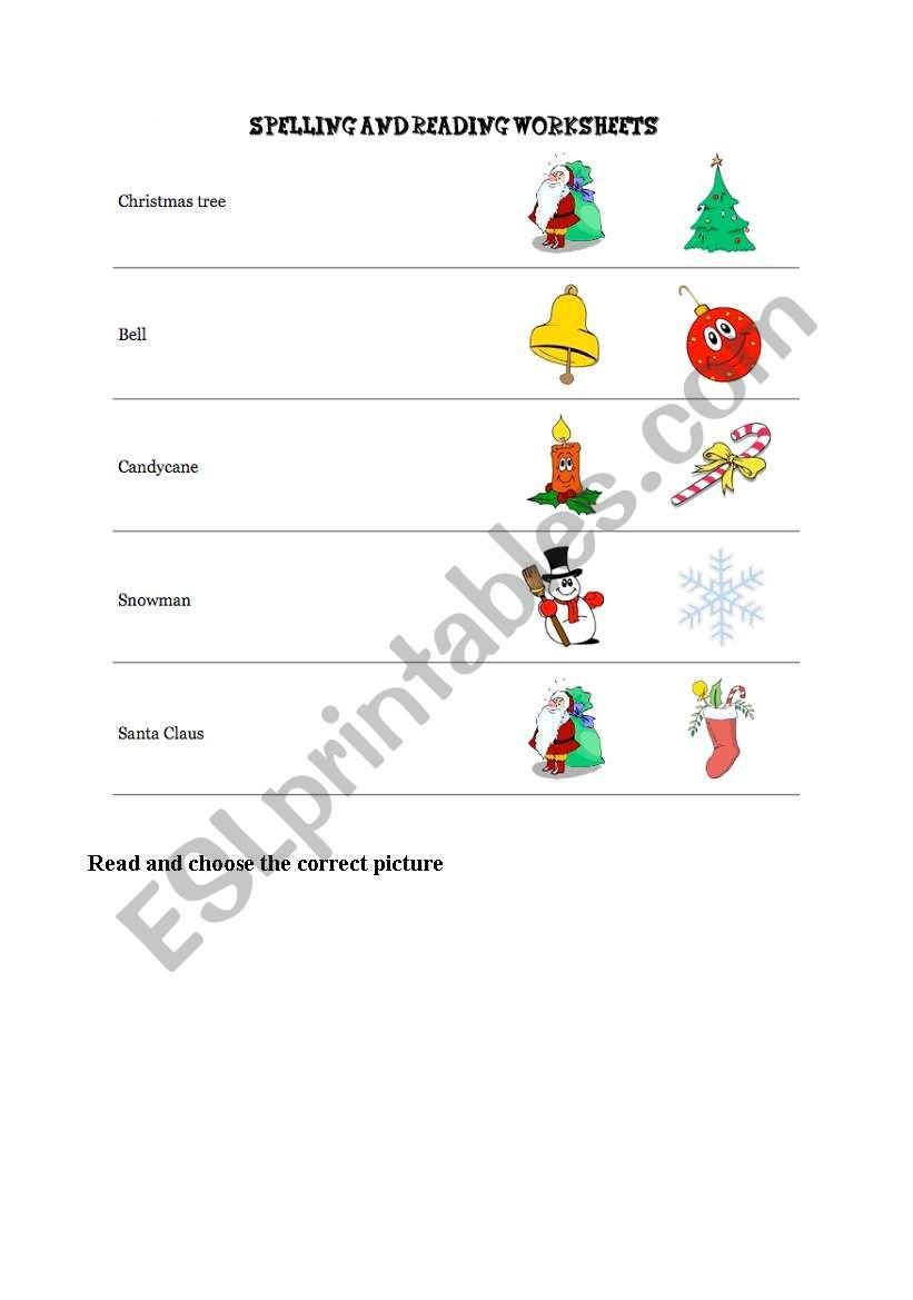 - English Worksheets: Spelling And Reading Worksheet
