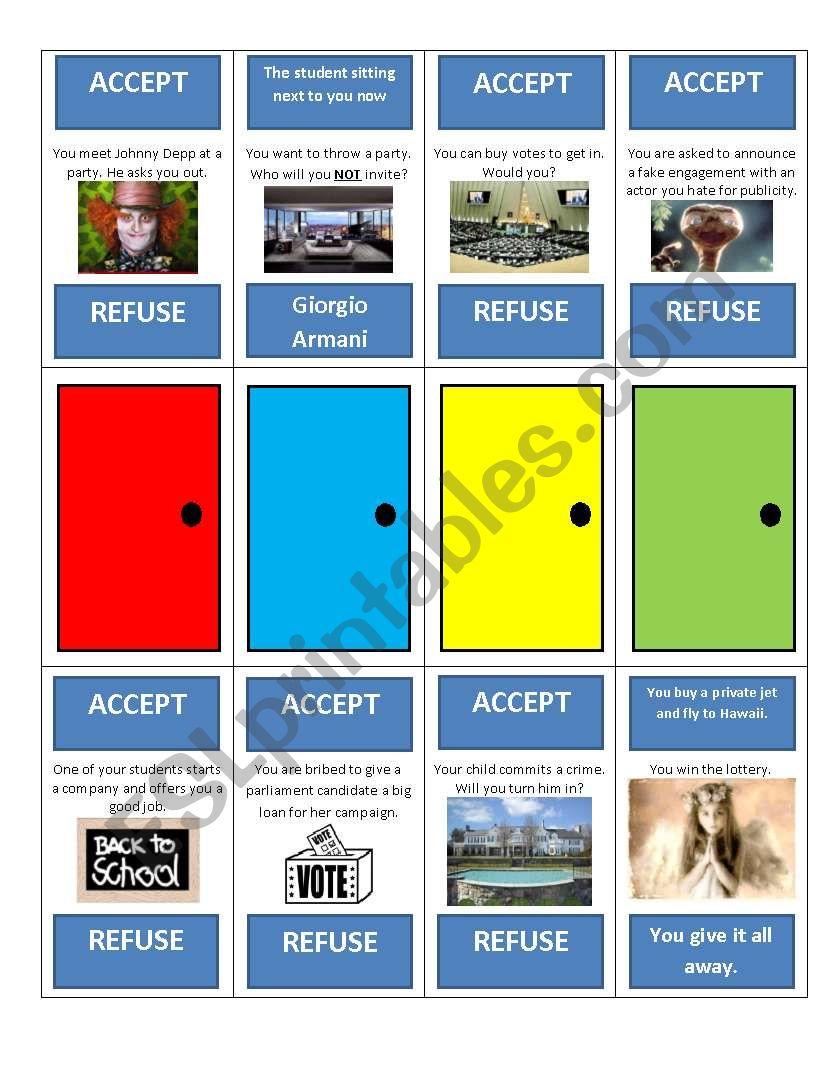 Third Conditional Game worksheet