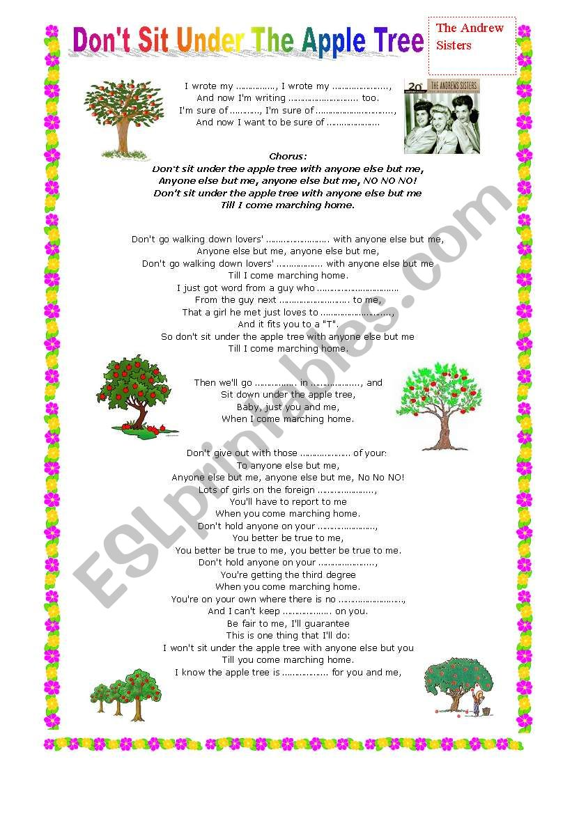 don´t sit under the apple tree--The andrew sisters