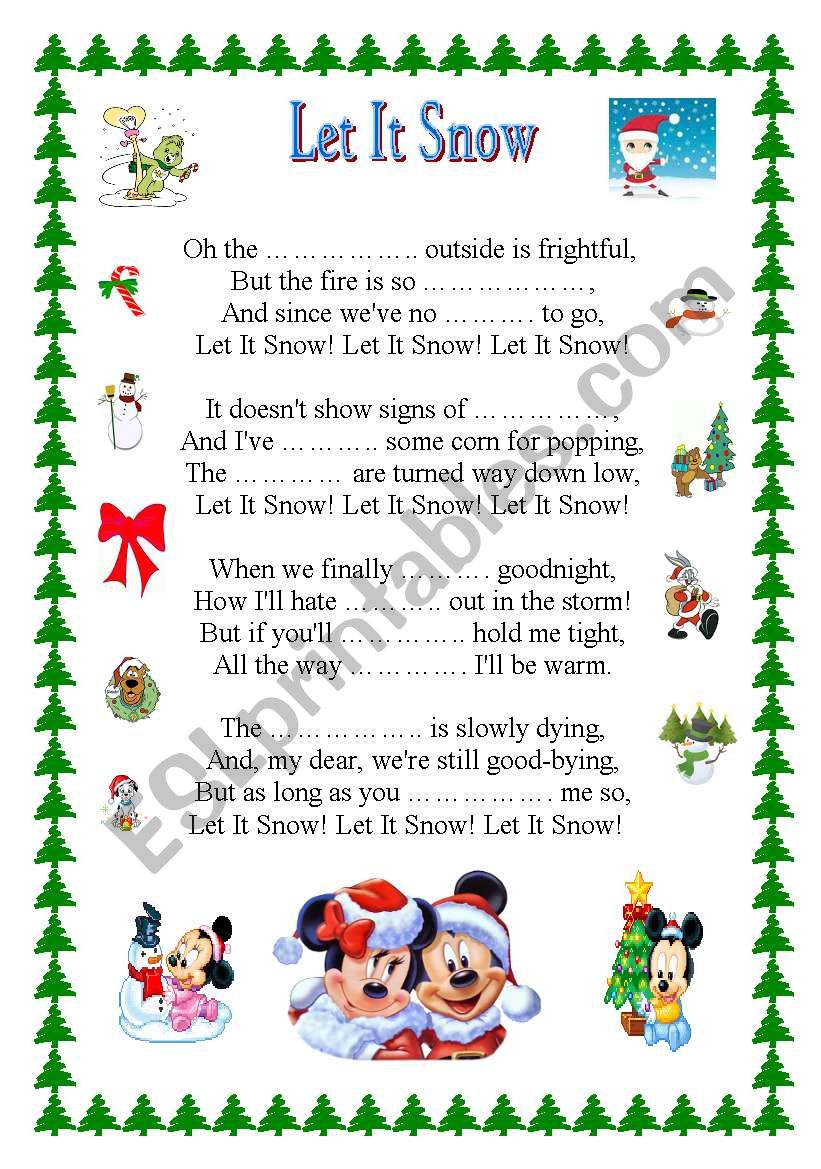 LET IT SNOW + key worksheet