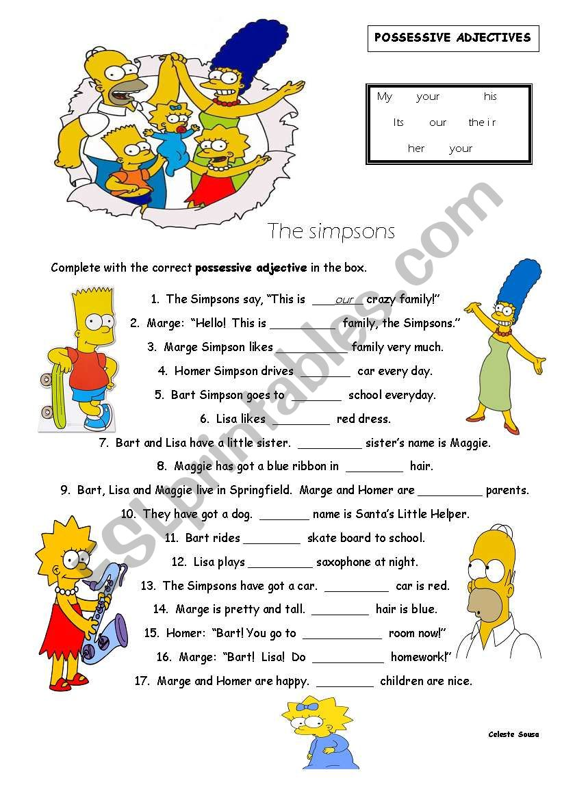 Possessive Adjectives worksheet