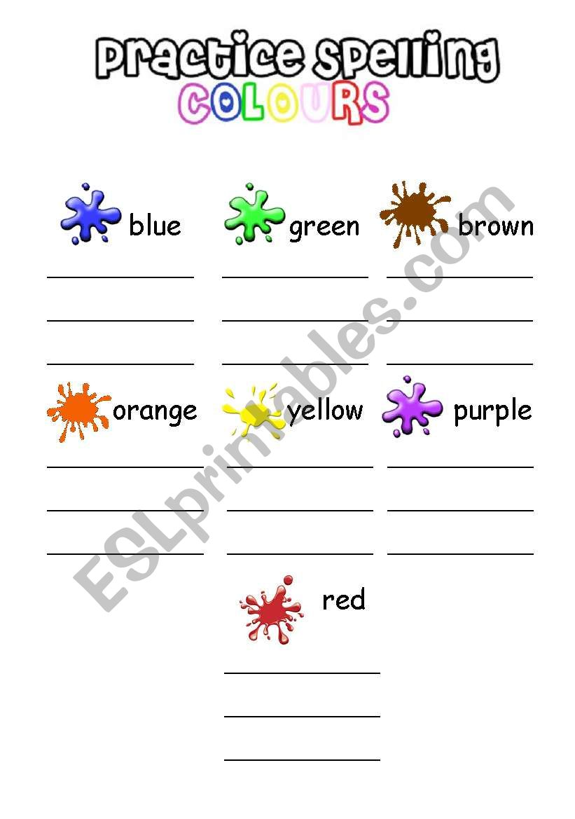 colours spelling esl worksheet by iamirish21. Black Bedroom Furniture Sets. Home Design Ideas