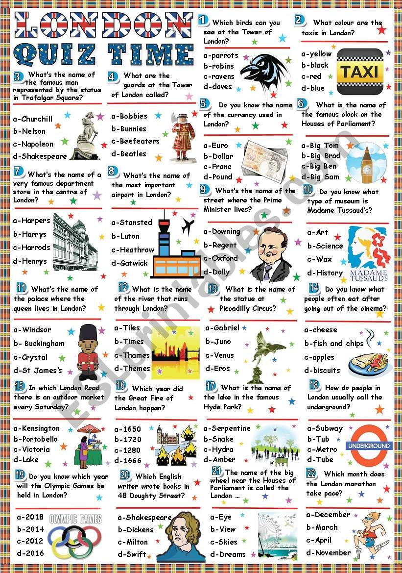 London-Quiz time (Key included)