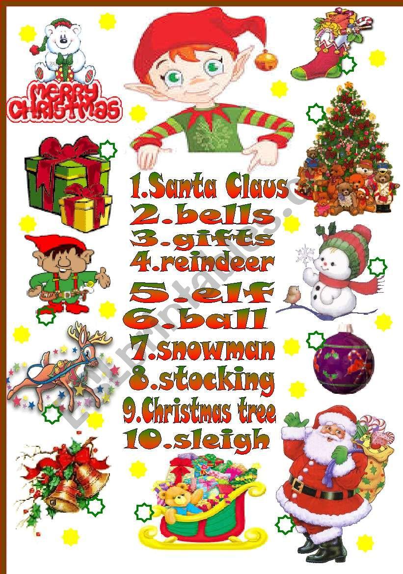 Christmas-basic vocabulary worksheet