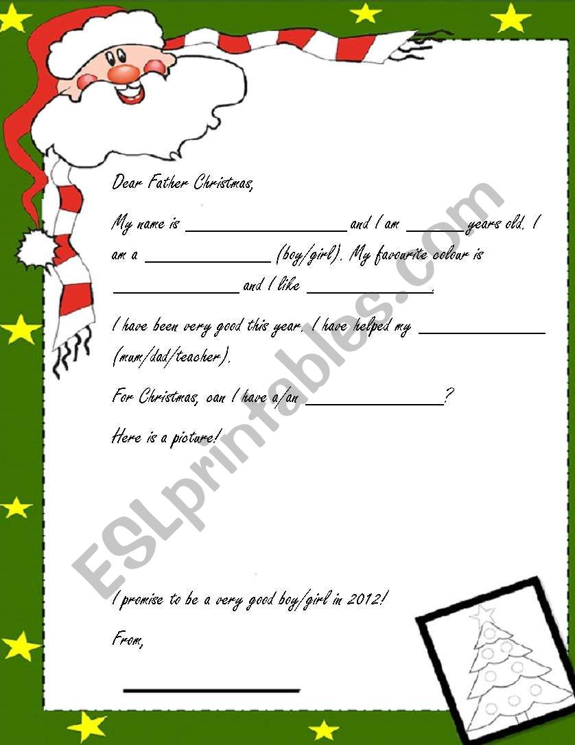 Letter to father christmas esl worksheet by stuartallen77 letter to father christmas worksheet spiritdancerdesigns Image collections