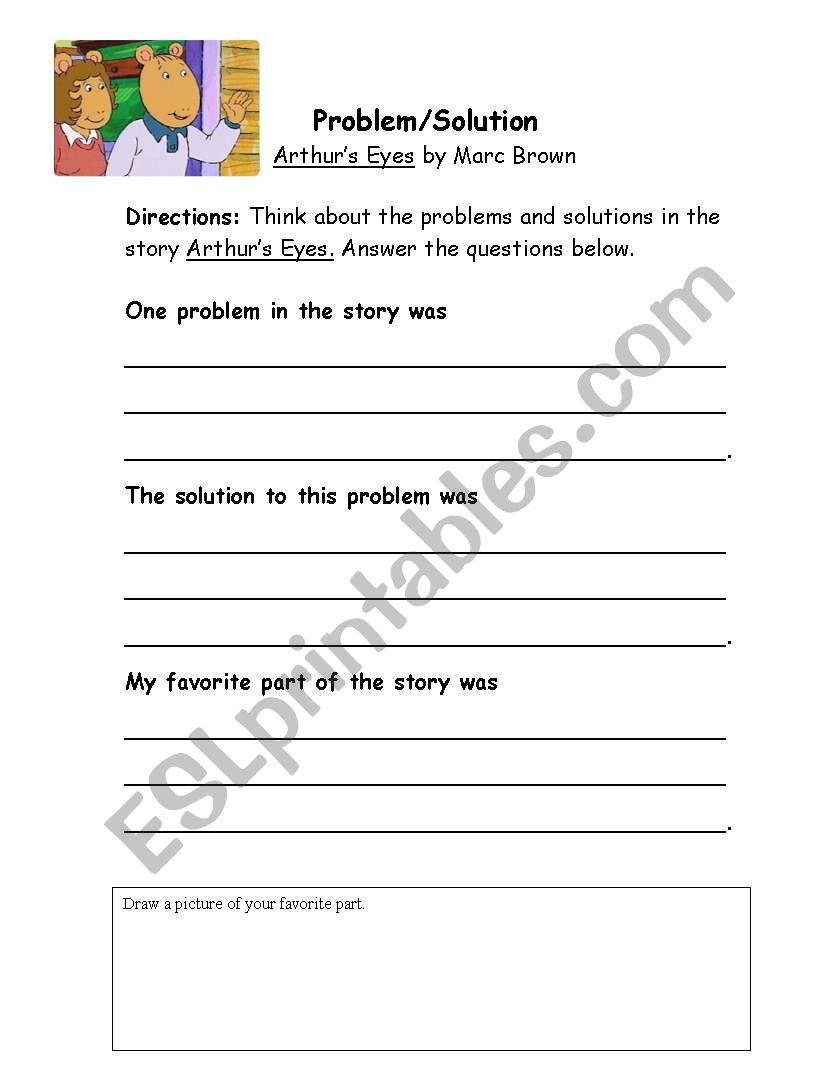 worksheet Problem Solution Worksheets english worksheets problemsolution worksheet for eyes eyes