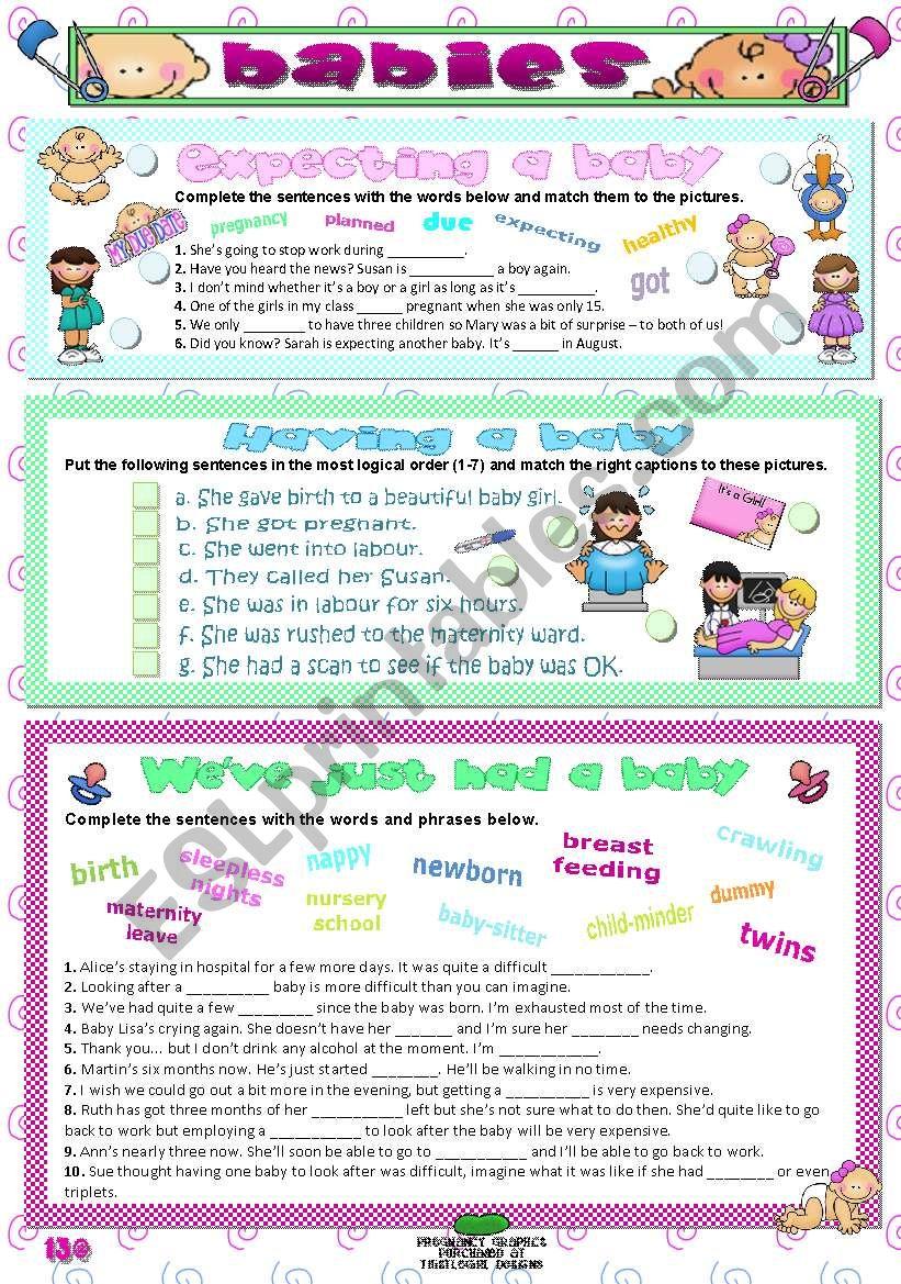BABIES worksheet