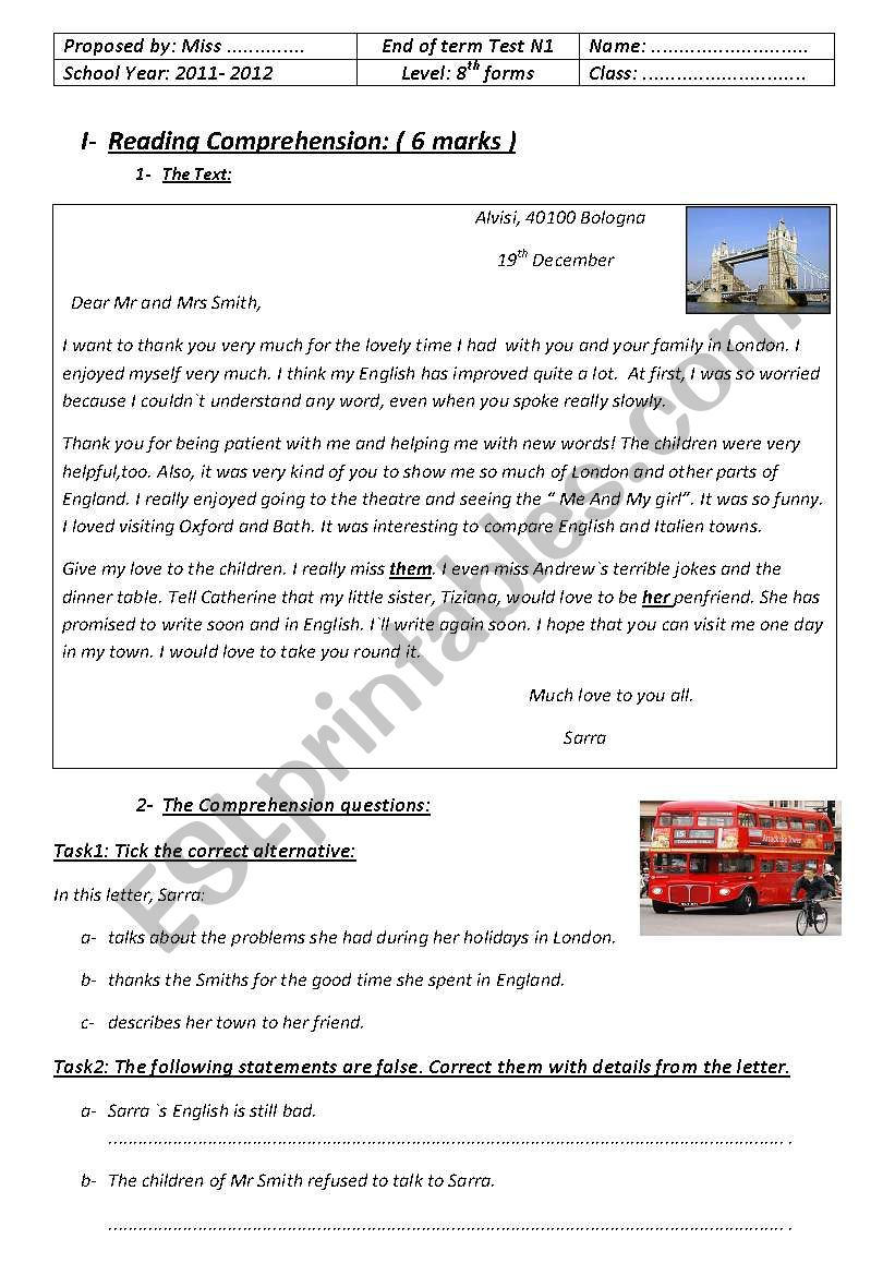 English Tests For Beginners Esl Worksheet By Fatenam Love
