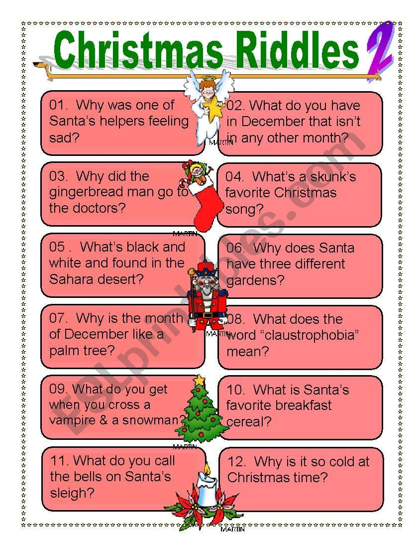 Christmas riddles for Everyone