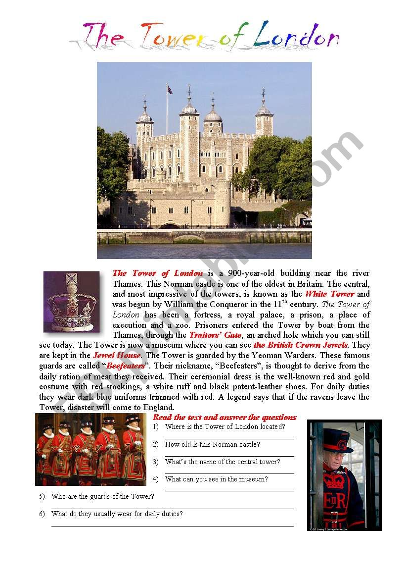 Postcards from London: The Tower of London