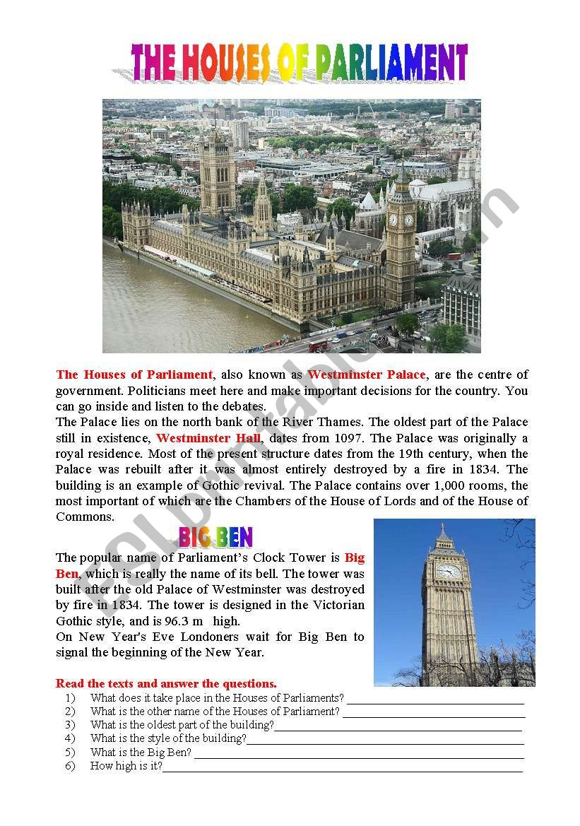 Postcards from London: The Houses of Parliament and Big Ben