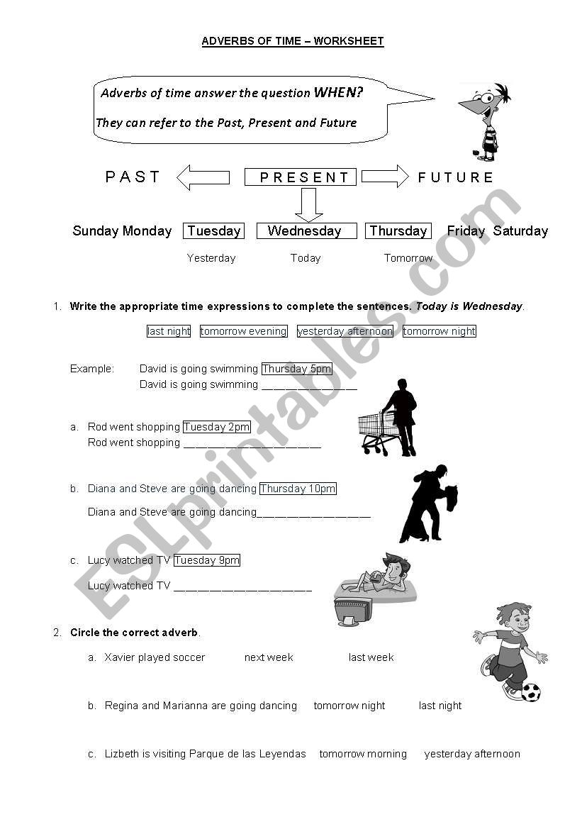 adverbs of time future and past esl worksheet by charorosario. Black Bedroom Furniture Sets. Home Design Ideas