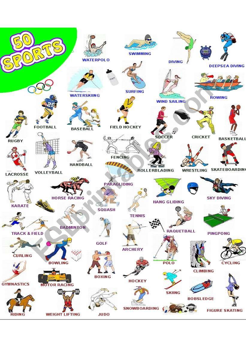 50 SPORTS - WOW  worksheet