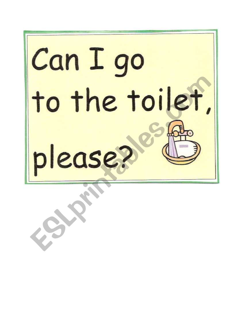 Can I Go To The Toilet Card