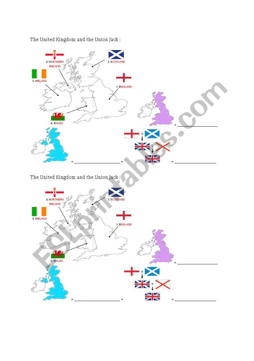 The UK and the Union Jack worksheet