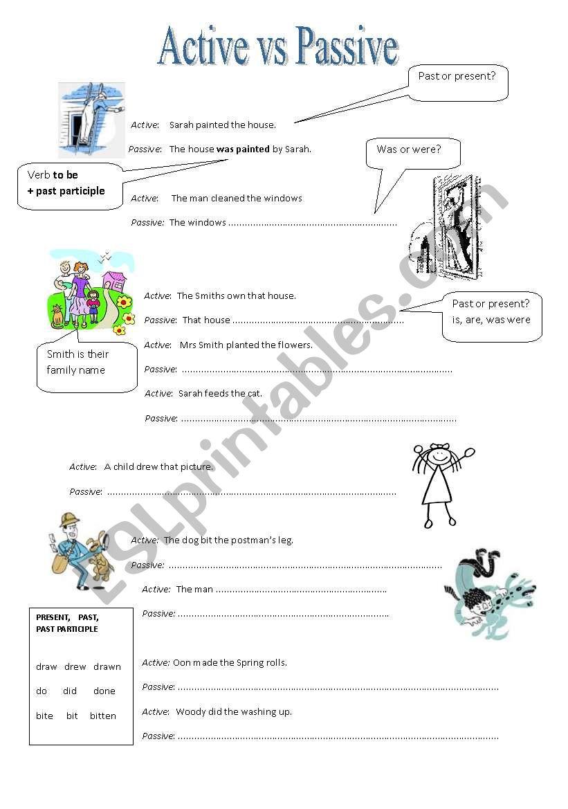 Active vs Passive worksheet