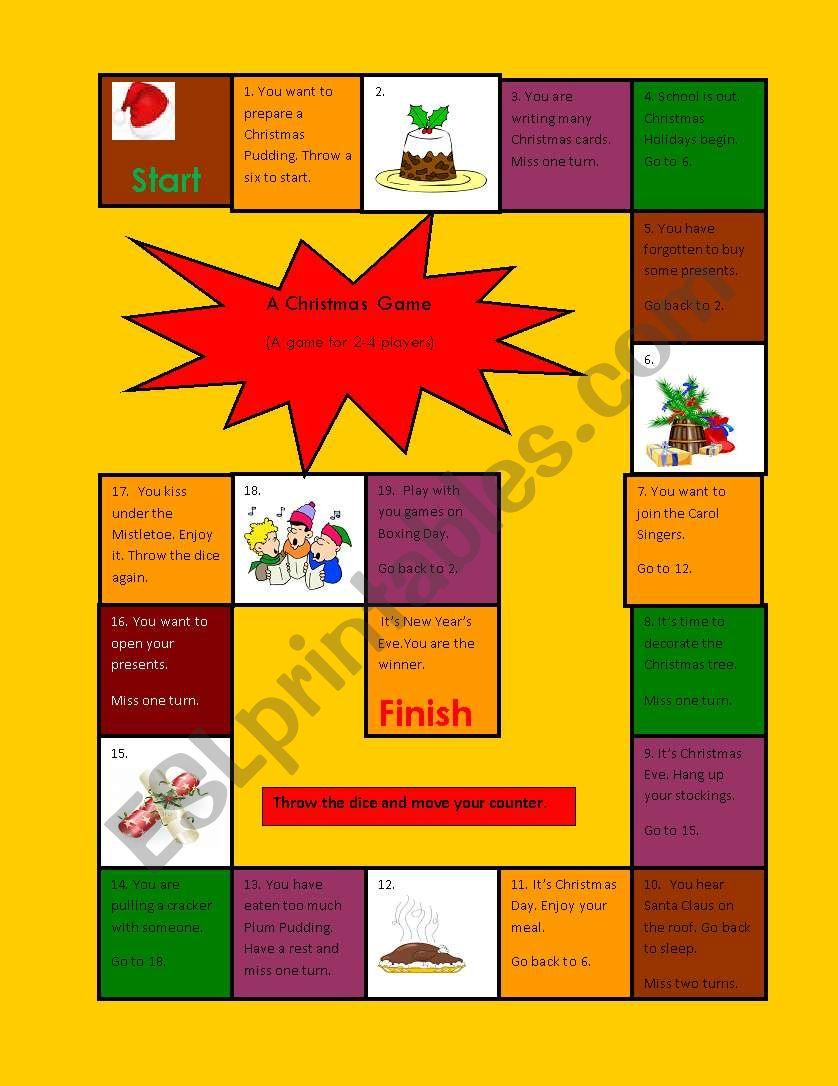 The Christmas Game worksheet
