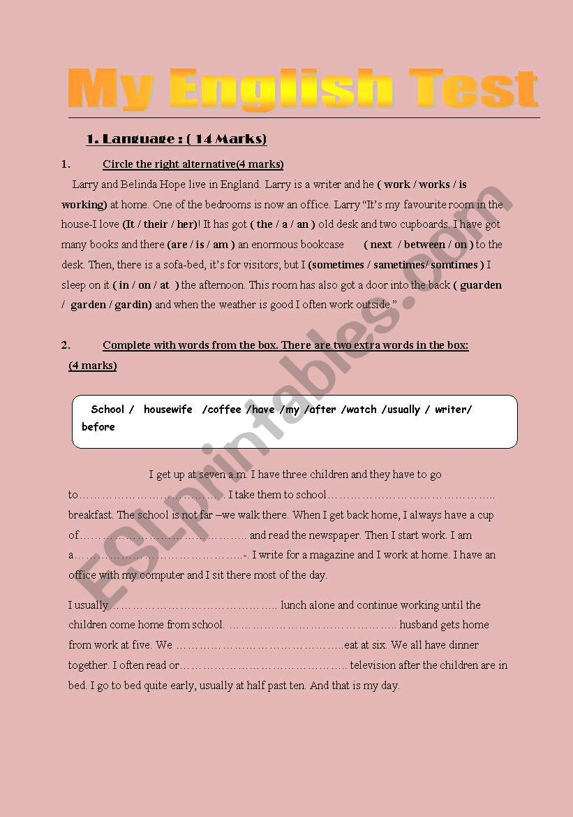 grammar activities worksheet