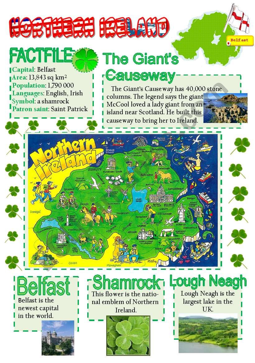 Northern Ireland-info poster for young learners