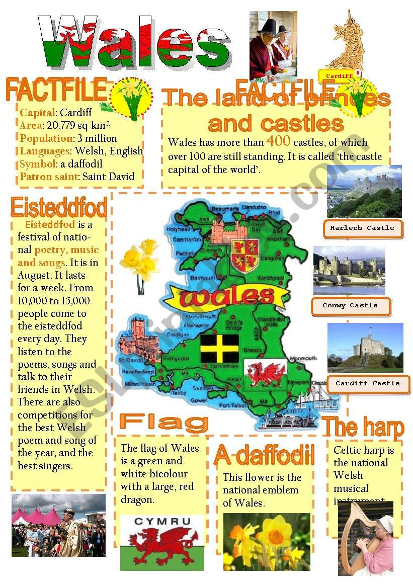Wales-info poster for young learners