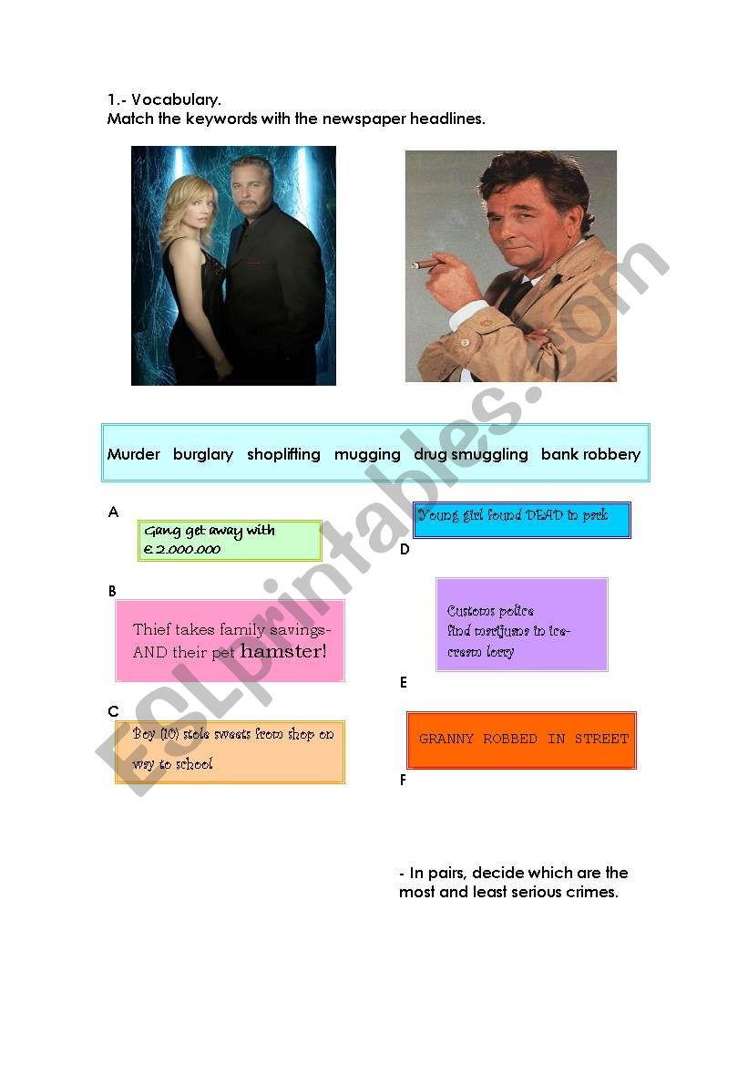 MURDER worksheet