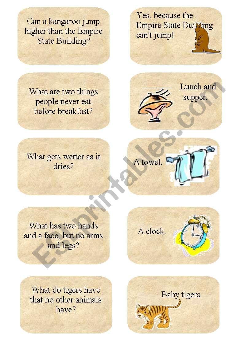 Jokes 1 worksheet