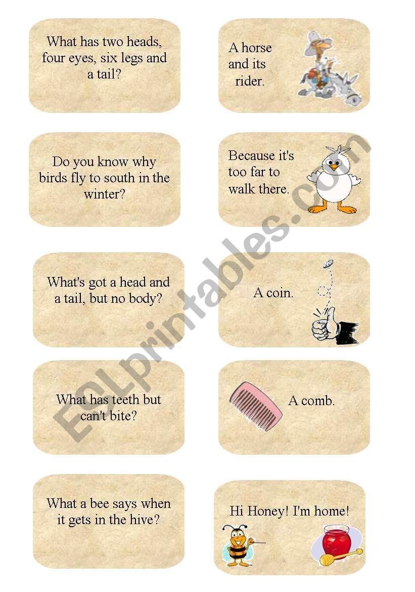 Jokes 2 worksheet