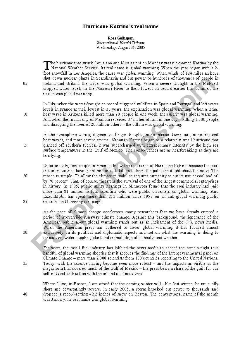 Worksheets Hurricane Worksheets hurricane katrina esl worksheet by birdsky worksheet