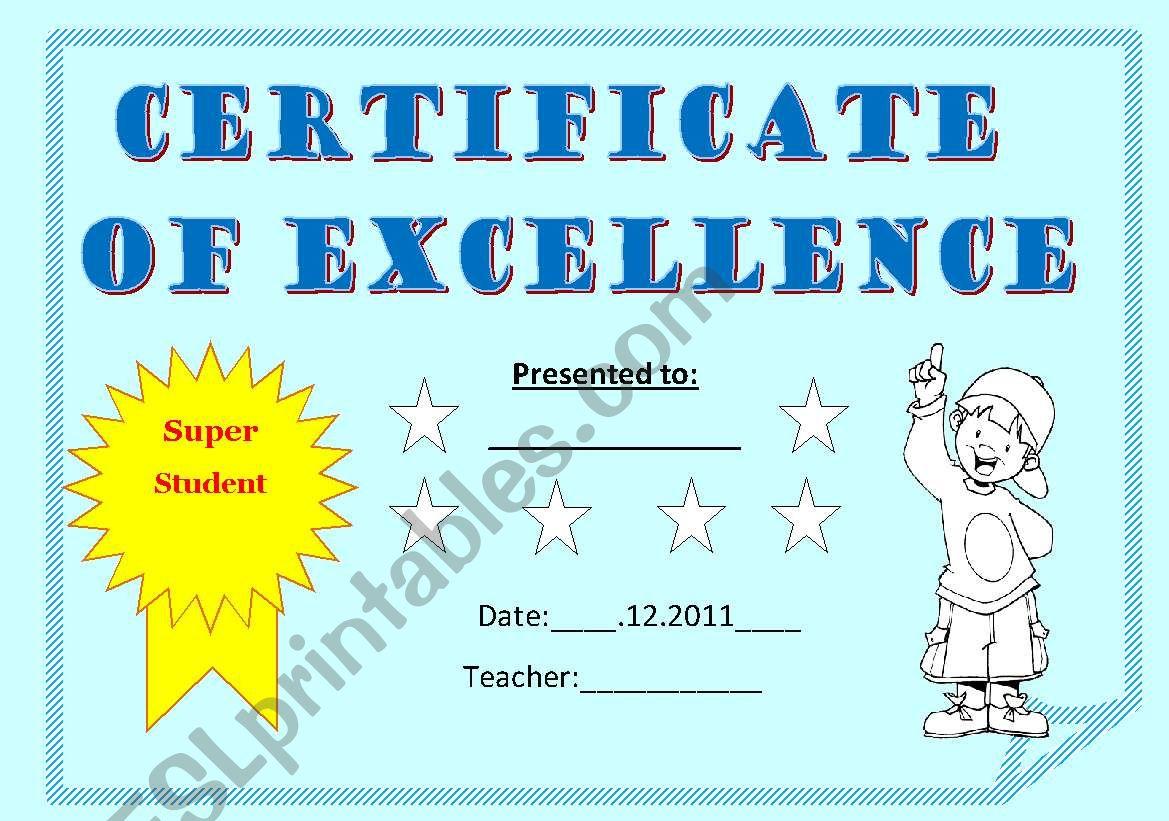CERTIFICATE FOR KIDS - ESL worksheet by elif_kara1905