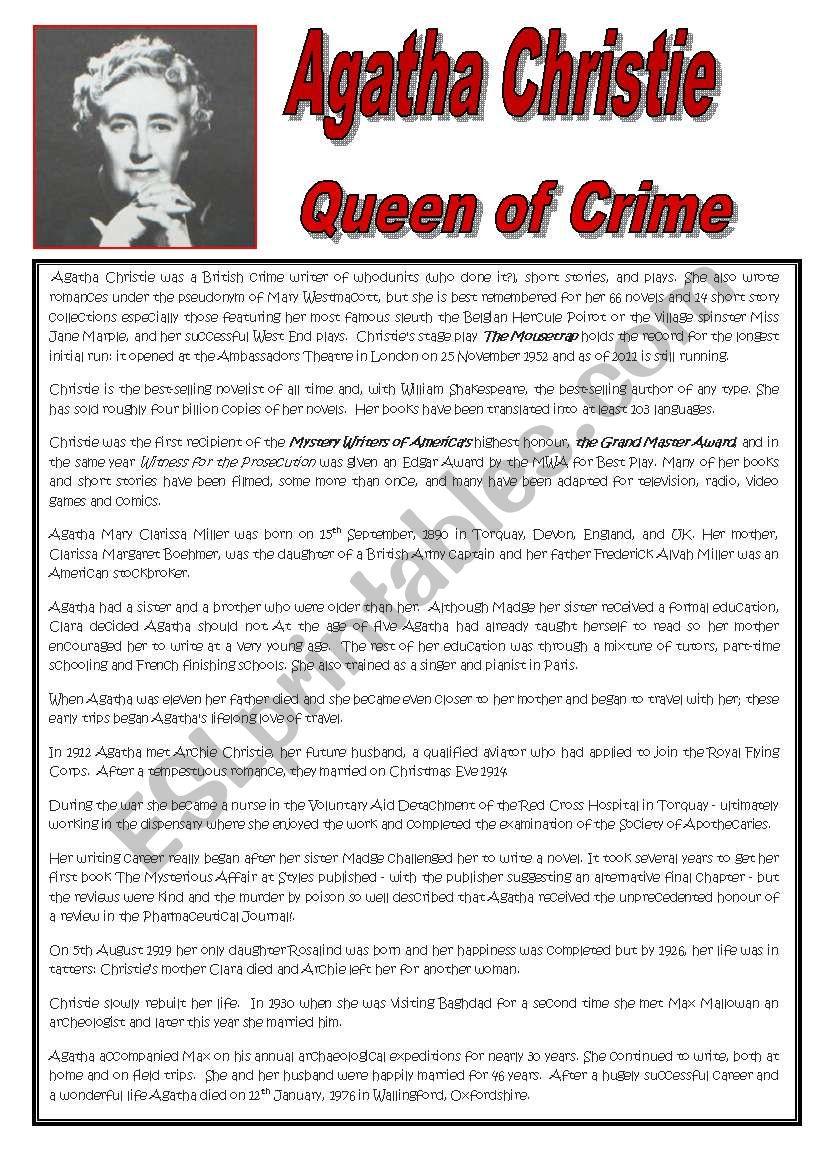 Agatha Christie - Queen of Crime
