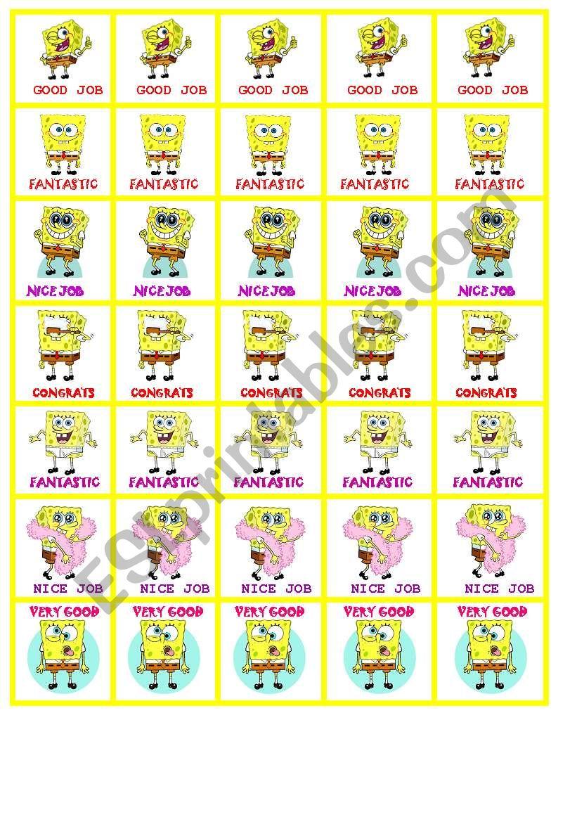 Sponge Bob motivation Stickers