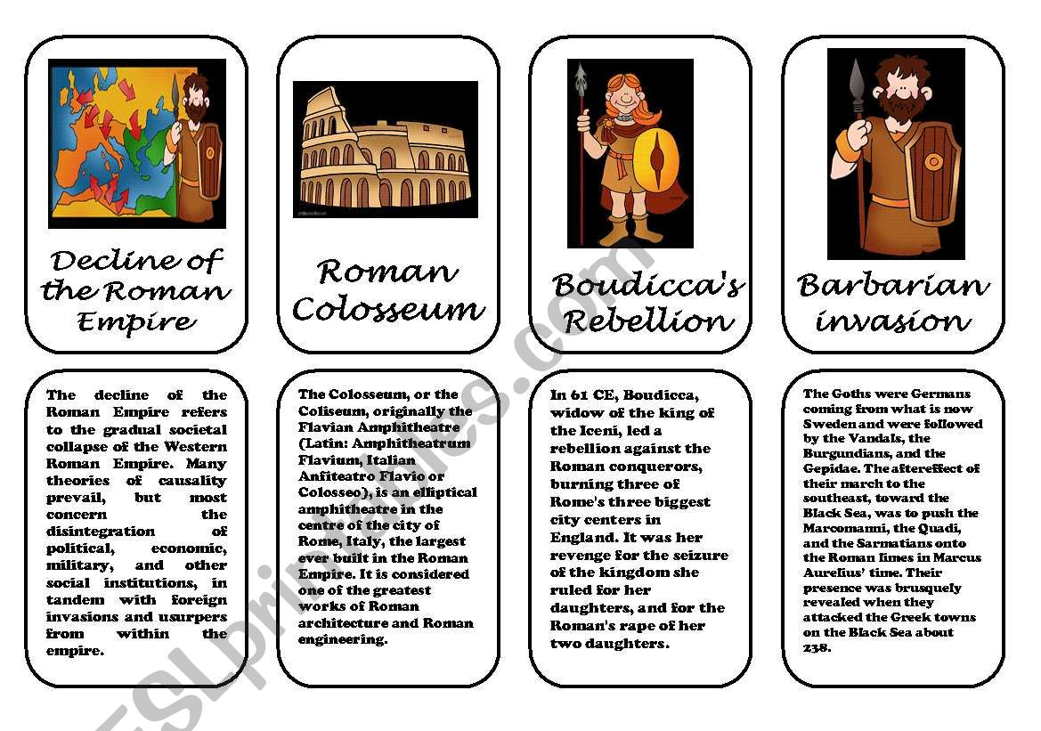 Ancient Rome speaking cards 1 (2 January 2012)