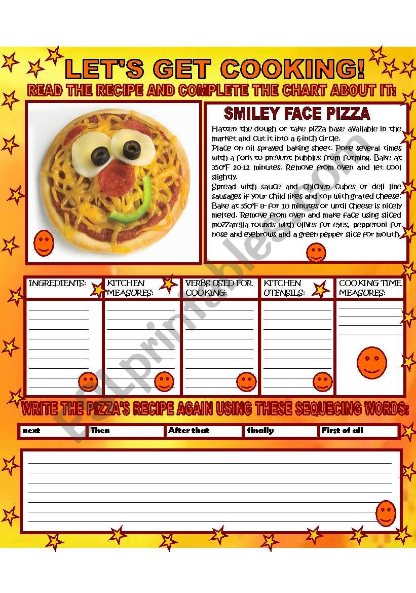 LET´S GET COOKING! worksheet
