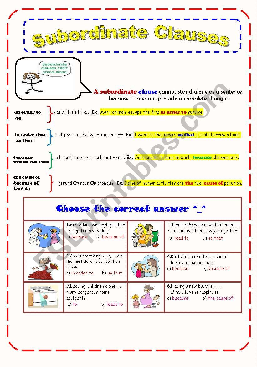 SPaG Questions  Distinguish between Main and Subordinate Clauses by together with Subordinate clause   ESL worksheet by Ms Sara q8 also Main and subordinate clauses worksheet by lynellie   Teaching as well pleting Sentences by Writing Subordinate Clauses   writing likewise Adjective And Adverb Clause Worksheets With Answers Clauses as well  additionally Subordinate Clause Worksheet Year 5   Free Printables Worksheet also KS2 Subordinate Clause Lesson Teaching Pack further A simple explanation of main and subordinate clauses and some moreover Englishlinx     Clauses Worksheets additionally Subordinate Clauses Worksheet 6th Grade Worksheets Main And likewise SPaG Worksheet  Identify Phrases and Clauses by chloef23   Teaching also Pobble   Inspiring young writers furthermore KS2 Grammar  Main and Subordinate Clauses with answers by further ACELA1507   Understand The Difference Between Main And Subordinate likewise High Grammar Worksheets Clauses  46bb6d7b0c50   Bbcpc. on subordinate clause worksheet year 6