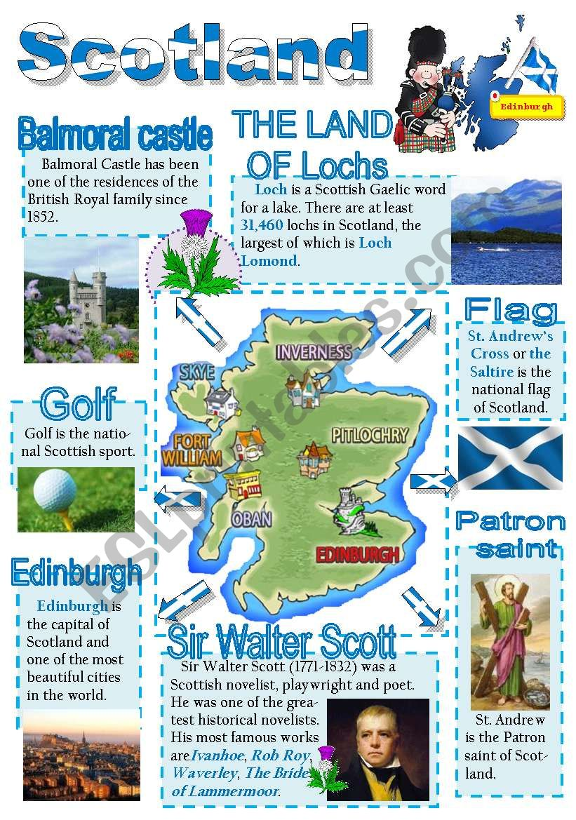 Scotland-info poster for young learners (part 2)