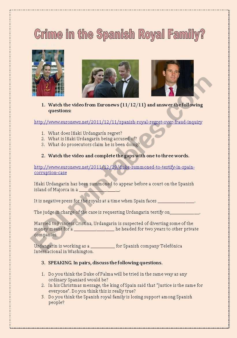 Crime in the Spanish Royal Family?