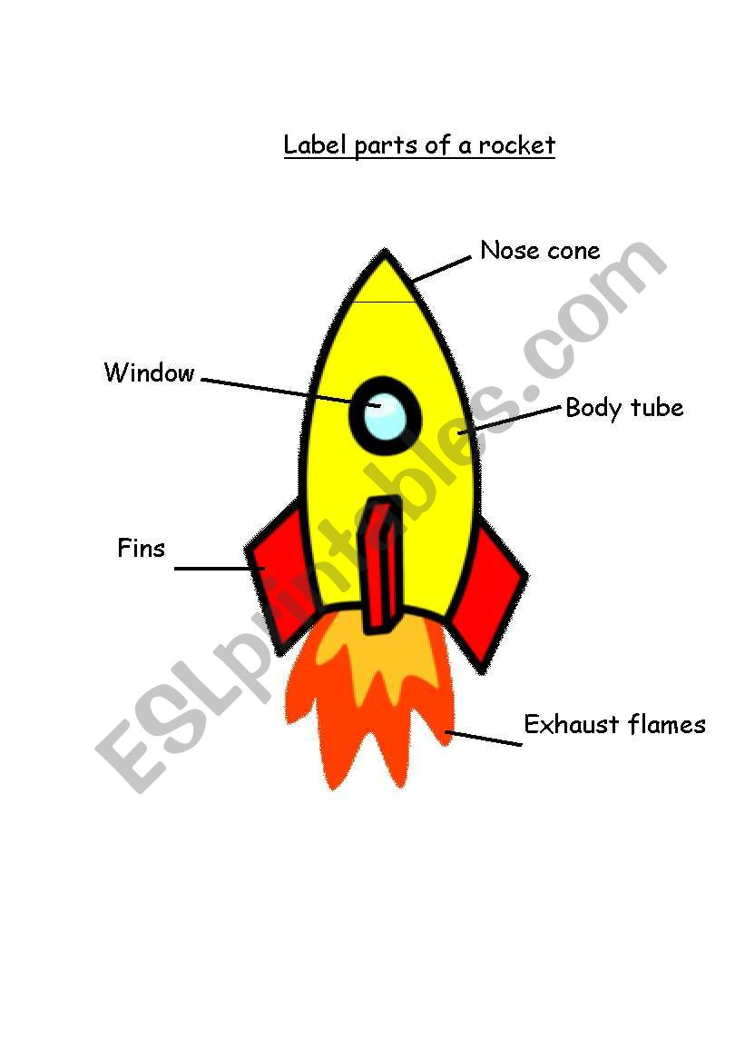 english worksheets parts of a rocket. Black Bedroom Furniture Sets. Home Design Ideas