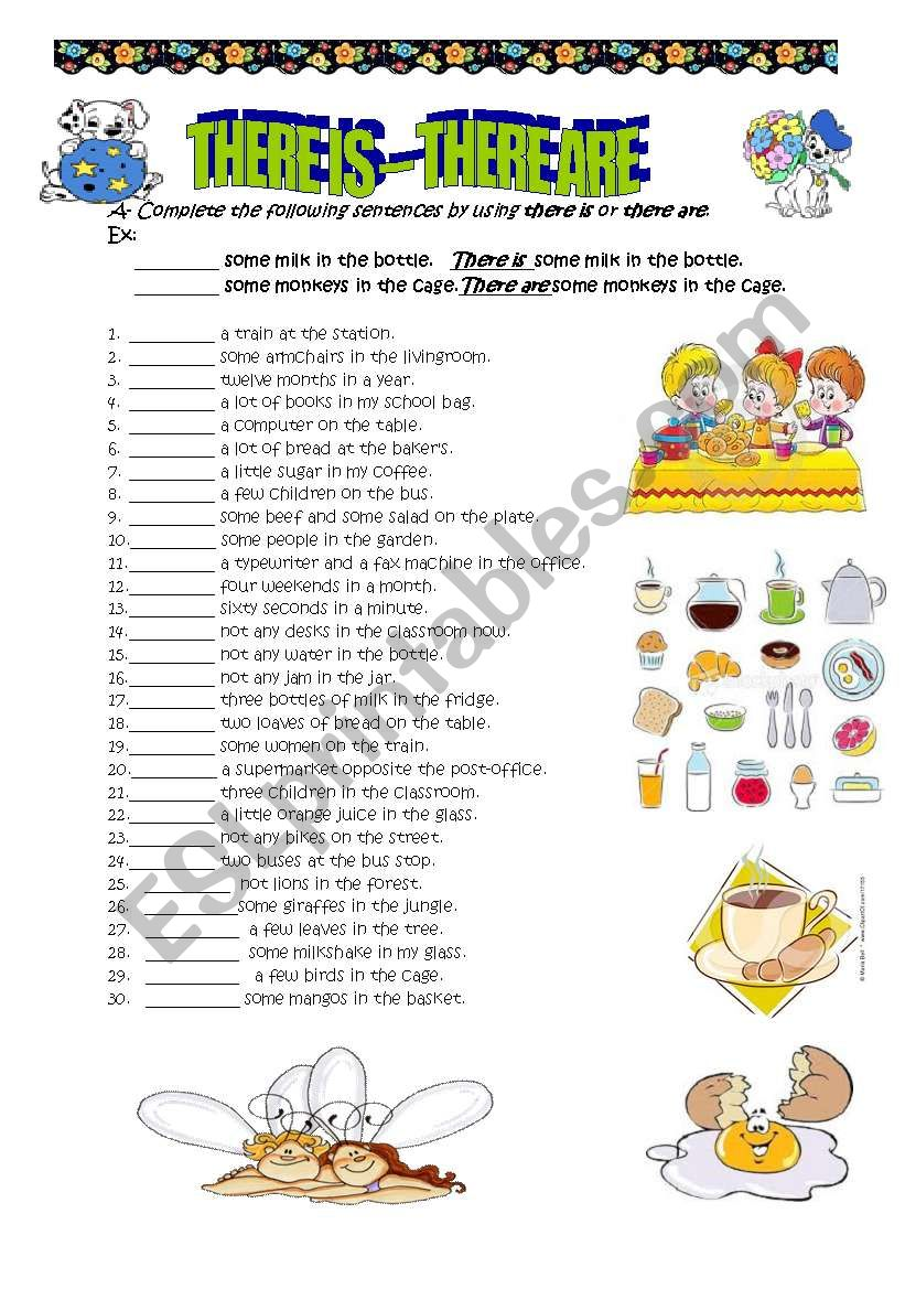 there is-there are worksheet