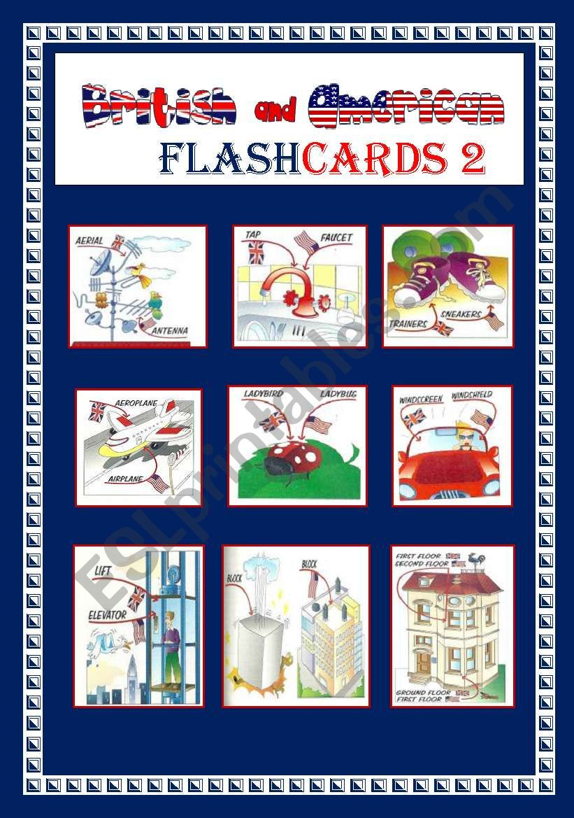 ENGLISH AND AMERICAN FLASHCARDS 2